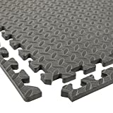 IncStores Diamond Soft Extra Thick Anti Fatigue Interlocking Foam Tiles (25 Pack, Grey) - 2ft x 2ft Tiles Ideal for Laundry Room Flooring, Kitchen Mats, Exercise Mats, Garage Mats and More