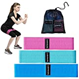 WAISFIT Non-Slip Thick Booty Workout Bands - Set of 3 Resistance Loop Circle Hip Band Perfect for Legs and Butt, Glutes, Abs, Shoulders