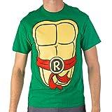 Teenage Mutant Ninja Turtles TMNT Mens Costume T-Shirt (Large, Raphael)