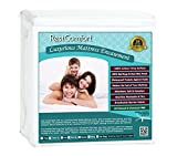 RestComfort Luxury Zippered Encasement Cotton Terry Top - Waterproof, Dust Mite Proof, Bed Bug Proof, Hypoallergenic Breathable Six Sided Mattress Protector (Full, Stretches 9'-15' Depth)