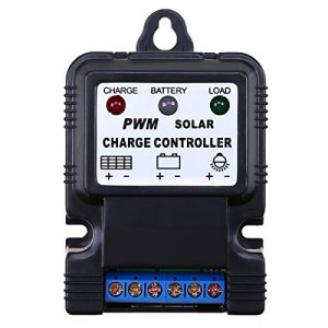 WHOSEE 10A PWM Solar Panel Regulator Battery Charge Controller 6V/12V Auto Switch