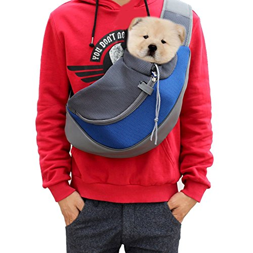 Lily's Pet Sling Carrier- Soft Mesh Hands Free Sling Bag Head Out for Puppy Cat Rabbit Guinea Pig- Single Shoulder Carrier Pet Travel Carrier Pouch- for Pets up to 6.6-13.2lb 1