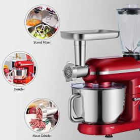 VIVOHOME-3-in-1-Multifunctional-Stand-Mixer-with-6-Quart-Stainless-Steel-Bowl-650W-6-Speed-Tilt-Head-Meat-Grinder-Juice-Blender-ETL-Listed-Red