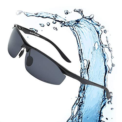Xloop Polarized Rectangular Al-Mg Metal Half Frame Driving Sport Sunglasses For Men
