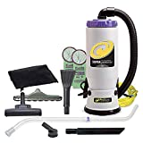 ProTeam Commercial Backpack Vacuum Cleaner, Super QuarterVac Vacuum Backpack with HEPA Media Filtration and Residential Cleaning Service Kit, 6 Quart, Corded