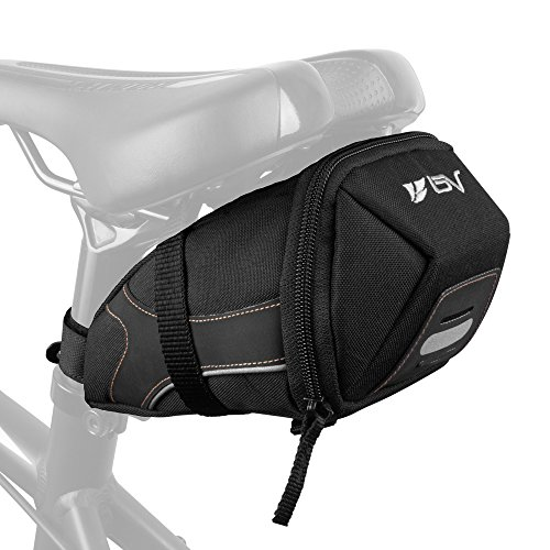BV Bicycle Y-Series Strap-On Bike Saddle Bag / Bicycle Seat Pack Bag, Cycling Wedge with Multi-Size Options