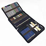 ZZWOND Drawing Pencils for Artists,72 Piece Kit Sketch Pencils and Colored Pencils Art Set - Ideal Gift for Beginners & Pro Artists Drawing Art, Sketching, Shading & Colouring