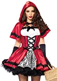 Leg Avenue Women's Gothic Red Riding Hood Costume, White, Medium