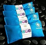 Namaste Yoga Eye Pillows - Lavender Eye Pillow for Yoga - Set of 4 - Turquoise Cotton by Happy Wraps