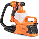 VonHaus Paint Gun Electric HVLP Spray Gun with 3 Adjustable Spray Patterns, Flow Control, Adjustable Valve Knob and Easy Cleaning Kit for Spray Painting Projects Indoor and Outdoors
