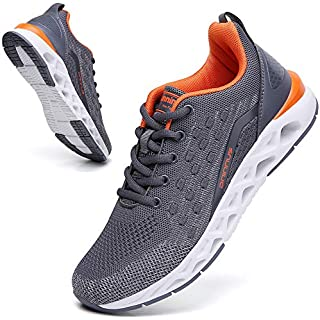 SKDOIUL Sports Sneakers for Men Mesh Breathable Fashion Youth Big Boys Trail Walking Shoes Black White Red How Often To Replace Running Shoes]