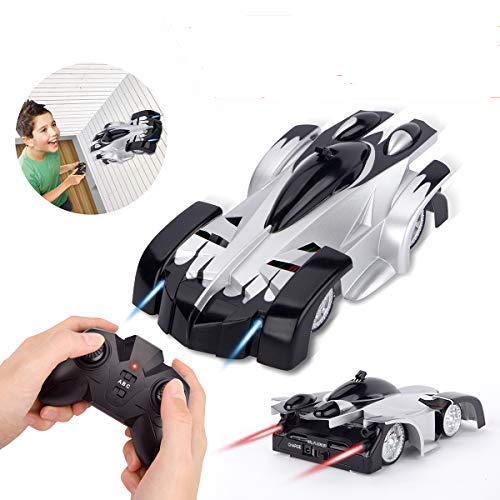 Remote Control Car, Sugoiti Rechargeable Wall Climb with New Remote Control, Dual Mode 360°Rotating Stunt, Home Gravity, Children Sport Racing Vehicle, Kids Electric Toy, Black[New Version]