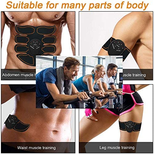 Abdominal muscle trainer, home office exercise wireless portable fitness equipment for men and women with abdominal/arm/leg exercise, free of charge with 10 gel pads 5