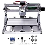 DIY CNC Router Kit, MYSWEETY 3018 GRBL Control Wood Carving Milling Engraving Machine (Working Area 30x18x4.5cm, 3 Axis, 110V-240V), with ER11 and 5mm Extension Rod