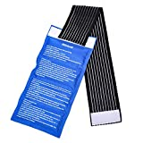 Gel Ice Packs for Injuries- Adjustable Wrap for Pain Relief Ice Pack+Heat Pack , Non-Toxic Smooth Reusable, Support Rehabilitation, Flexible Therapy - Shoulder, Back, Knee, Neck, Ankle, Jaw & More …