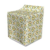 Lunarable Rose Washer Cover, Roses Hybrid Flora Park Summer European Old Fashioned Antique Design Pattern, Suitable for Dryer and Washing Machine, 29' x 28' x 40', Yellow Green Beige