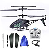 Outdoor Remote Control Helicopter for Kids Age 8 RC Helicopter with Gyro Storage Bag