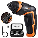 Cordless Screwdriver, Tacklife SDP50DC Electric Rechargeable Screwdriver 3.6V 2000mAh Li-ion with Battery Indicator with 31 Free Accessories for Home DIY, Newbies and Experienced