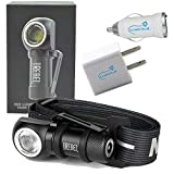 NEBO Rebel 600 Lumen Rechargeable Head Light Tactical Headlamp Bundle with Lumintrail USB Car and Wall Plugs