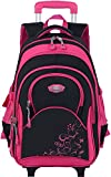 COOFIT Rolling Backpack Kids School Backpack with Wheels Laptop Backpack Roller Backpack