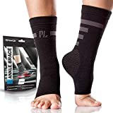 POWERLIX Ankle Brace Compression Support Sleeve (Pair) for Men & Women, Best Brace for Injury Recovery, Eases Swelling, Supports Your Tendon and Helps Relieve Pain from Achilles Tendonitis