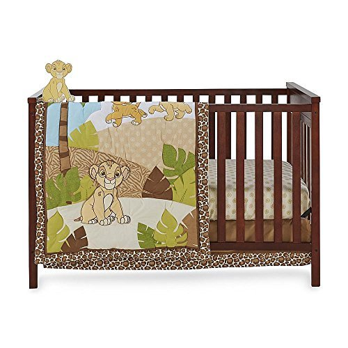 4 Piece Baby Crib Bedding Sets, for Girls, for Boys (Lion King)