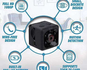 ENTRAZON® Secret Mini HD Wireless Hidden 1080P Smallest Body Spy Camera, 12 MP Convert Security Nanny Cam with Night Vision and Motion Detection