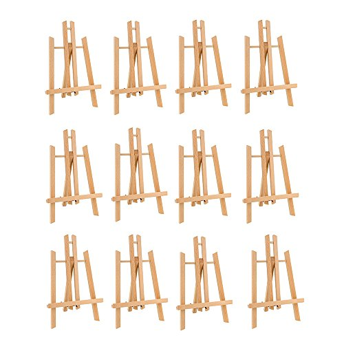 CONDA 11 inch Tall Medium Tabletop Display Wooden Easel(Pack of 12)