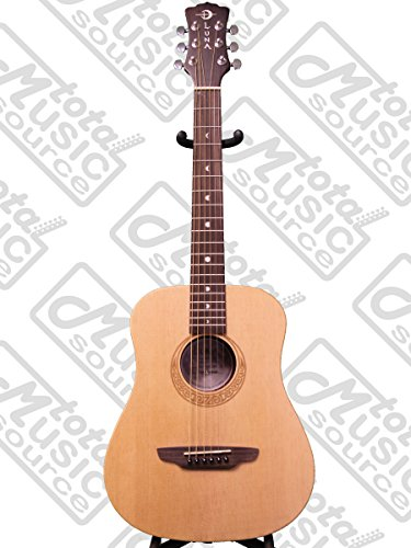 Luna Safari Series Muse Spruce 3/4-Size Travel Acoustic Guitar - Natural