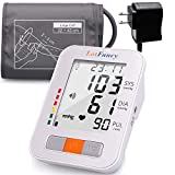 Upper Arm Blood Pressure Monitor, Upper Arm Cuff (13-17'), 180 Readings 2 Users, Digital BP Monitor with Talking Function and Large LCD Display for Irregular Heartbeat Detection