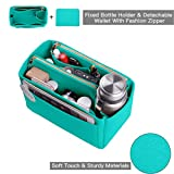 Purse Organizer, Felt Bag Organizer Insert For Speedy, Neverfull, Tote, Handbag, 6 Colors 3 Sizes (Medium, Tiffany Blue)