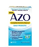 AZO Complete Feminine Balance Women's Daily Probiotic | Clinically Proven to Help Protect Vaginal Health | Clinically Shown to Work in 7 Days* | 30...