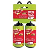 Scotch-Brite Lint Roller, Twin Pack, 56 Sheets/Roller (112 Sheets Total)