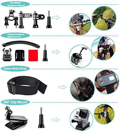 61 in 1 Action Camera Accessories Kit for GoPro Hero 9 8 7 6 5 4 Hero Session 5 Black Gopro Max Insta360 Xiaomi Yi DJI AKASO Campark Action Camera