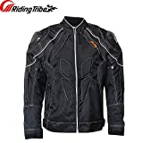 Heavy Motorbike Motorcycle Riding Protective Jacket with Carbon fiber Shoulder Protector Gears and Air Vents