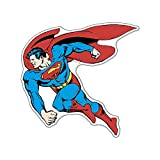 Fan Emblems Superman Character Car Decal Domed/Multicolor/Clear, Classic DC Comics Automotive Emblem Sticker Applies Easily to Cars, Trucks, Motorcycles, Laptops, Windows, Almost Anything