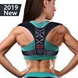 (2019 New) Posture Corrector for Women Men - Posture Brace Adjustable Back Straightener, Comfortable Upper Clavicle Support Device for Thoracic Kyphosis and Back Pain Relief (New(26-48))
