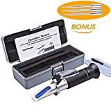 Beerbrew Brix Refractometer for Homebrew Beer Wort, OAKEEY Dual Scale Automatic Temperature Compensation 0-32% Specific Gravity Hydrometer with ATC