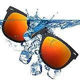 Clip-on Sunglasses for Prescription Glasses with Flip up Unisex Polarized Lens UV Protection Sunglasses for Women Men (Orange)