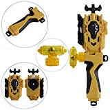 StormGyro Battling Battle String Launcher LR (Left & Right Turning) and Launcher Grip with Weight Damper Set(Yellow)