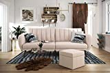 Product review for Novogratz Brittany Sofa Futon, Premium Linen Upholstery and Wooden Legs, Pink Linen
