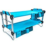 Product review for Disc-O-Bed Youth Kid-O-Bunk Benchable Camping Cot with Organizers, Teal Blue