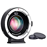 Commlite CM-AEF-MFT Booster Canon EF Lens to Micro Four Thirds 0.71x Speed Booster Autofocus Adapter for Panasonic GH4 GH5 GH5S GF6 GF1 GX1 GX7 Olympus E-M5 E-M10 E-PL5