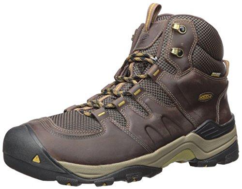 KEEN Men's Gypsum II Mid Waterproof Shoe, Coffee Bean/Bronze Mist, 12 M US