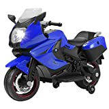 Uenjoy Kids Motorcycle Electric Ride On Motorcycle 12V/ 2 Wheels/ Blue