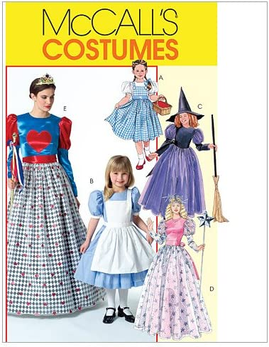 Amazon.com: McCall's M4948 Girl's Good Witch, Bad Witch and Fairy Tale Costume Sewing Patterns, size 3-8: Arts, Crafts & Sewing