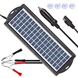 POWISER 3.5W Solar Battery Charger 12V Solar Powered Battery maintainer & Charger,Suitable for Automotive, Motorcycle, Boat, Marine, RV, Trailer, Powersports, Snowmobile, etc.