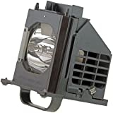 WOWSAI TV Replacement Lamp in Housing for Mitsubishi WD-60735, WD-60737, WD-60C8, WD-65C8, WD-65C9 Televisions
