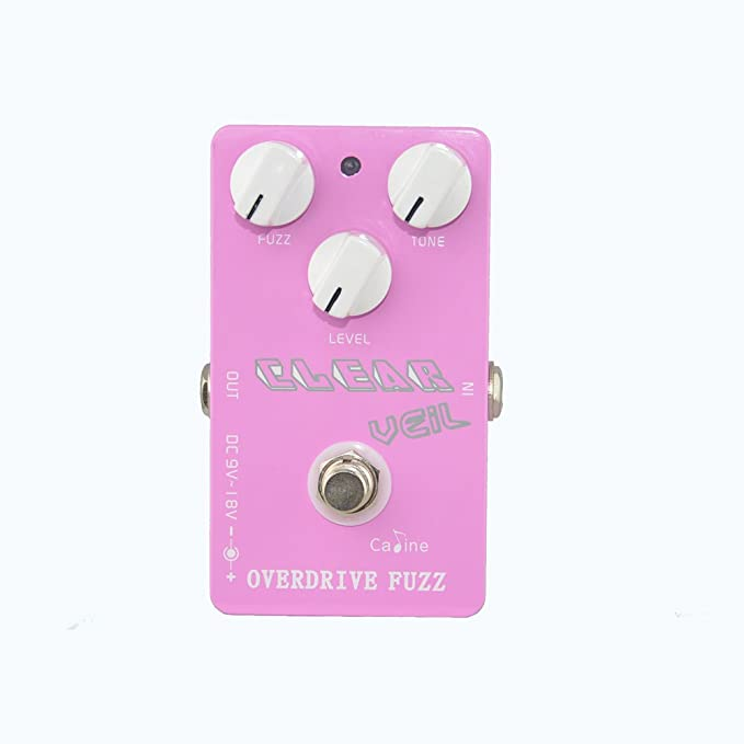 Caline USA CP-32 Clear Veil PINK Overdrive Fuzz Guitar Effect Pedal