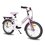JOYSTAR Kids Bike with Hand Brake for 4 5 6 Years Girls,16 Inch Toddler Bike with Kickstand for Child, Lavender Girls Bicycle